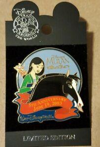 WDW Disney Pin~MULAN with KHAN & MUSHU~5th Anniversary 2003~LE 2500~#22311