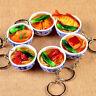 Creative Simulation Food Noodles Key Chain Ring Keyring Pendant Purse Keychain