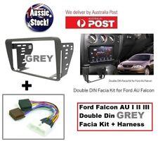Ford Falcon AU 1998 - 2002 Grey Double-din Facia Fascia Kit & Harness Aerpro