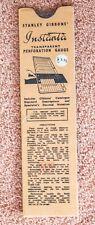 Instanta Perforation Gauge by Stanley Gibbons. Vintage, second hand.