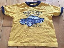 Boys Yellow Gap Racing Car T-shirt Size 3 Years