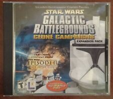 Star Wars Galactic Battlegrounds Clone Campaigns Expansion Pack 2002 PC Game