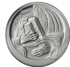 Israel State Medal  The Ten Commandments - 38.7mm, 1oz Silver/999 Proof +Gift