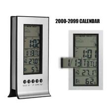 Indoor Outdoor Wireless Weather Station Clock Digital LCD Calendar Thermometer E