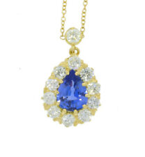 Yellow Gold Pear Fine Diamond Necklaces & Pendants