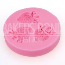 Mini Strawberry Fruit Silicone Mould Cake Emboss Fondant Chocolate Icing Cupcake