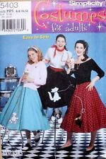 COSTUME 50'S DINER POODLE*KITTY SKIRT Simplicity Pattern 5403 Misses Size 6-12
