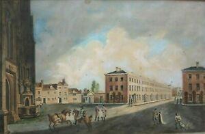 Hammet Street. Taunton.  Antique Aquatint. C. Cox - Somerset