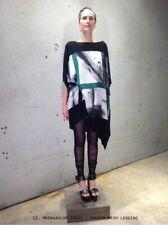NEW Designer Alistair Trung Black Rocker Mesh Leggings One Size