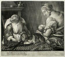 Johann Jakob RIDINGER-il grande dorme giovani-MEZZOTINTO/schabkunst 1760