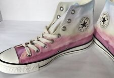 New CONVERSE HIGHWAY ALL-STARS Portrait W11 M9 LEATHER Badge Hi-Top Taylor Pink