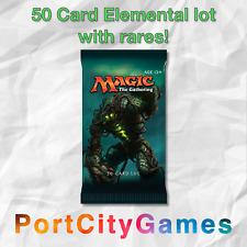 50 Card Elemental lot Magic MTG w/ Rares + FREE bonus Rares & Booster Packs!