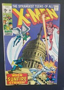 X-MEN #64 • 1ST SUNFIRE • VERY FINE- OR BETTER++