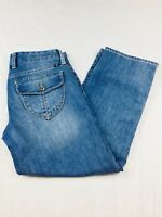 "Lucky Brand Women's Crop Capri Jeans 4/27 Button Flap Light Wash Inseam 24"" (T)"