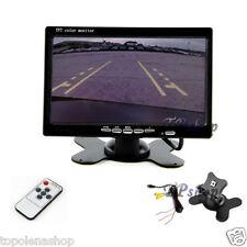 MONITOR LCD TFT 7'' TELECAMERA RETROMARCIA COLORI TELECOMANDO AUTO CAMPER 7001B