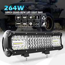 """4 ROW 12inch 264W CREE LED Work Light Bar Combo Beam Driving Off road Truck 14"""""""
