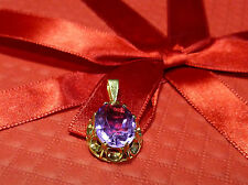 8 K 333 Gold Pendant with Amethyst 2,50 Gram Gold Pendant