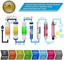5 Stage Reverse Osmosis Drinking Water System Home Purifier 7 TOTAL FILTERS