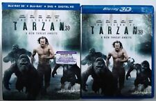 THE LEGEND OF TARZAN 3D BLU RAY DVD 3 DISC SET + SLIPCOVER SLEEVE FREE SHIPPING