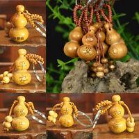 1 Pcs Gourd Craft Keychain Mahogany Chinese Traditional Fortune Keyring Deco_kz