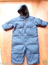 RALPH LAUREN BABY BOYS NAVY BLUE DOWN FILLED SNOWSUIT PRAM SUIT 9 MONTHS