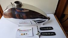 OSSA MICK ANDREWS GAS TANK ALLOY POLISHED NEW OSSA FUEL ALUMINUM POLISHED