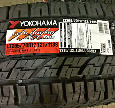 2 New LT 265 70 17 Yokohama Geolandar A/T G015 10 Ply Tires