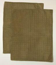 "2 Nautica Corduroy Pillow Shams Tan Brown 20x26"" Quilted"