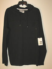 Billabong Long Sleeve Hooded Pullover NWT M Black 100% Cotton
