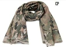 Camo Tactical Mesh Neck Scarf Military Scrim Net Sniper Face Veil Army Outdoor