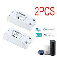 2X RF433MHz 10A 2200W Wifi Smart Switch Wireless Remote Automation U0V9