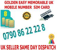 GOLDEN EASY MEMORABLE UK VIP MOBILE PHONE NUMBER 0790 86 22 22 8  PLATINUM SIM