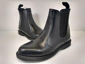 Doc Dr.Martens Flora Women's Black Shiny Leather Chelsea Boots Size 8