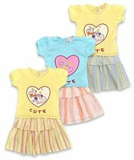 Cotton Blend Striped Clothing (0-24 Months) for Girls