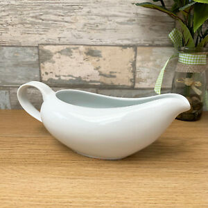 Ceramic White Wide Gravy Boat 500ml Sauce Jug Kitchen Server Tableware Xmas Meal