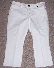COLDWATER CREEK White Denim Cropped Capris Jeans Size 10P or 10 Petite NWOT