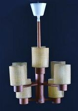 Hans Agne Jacobsson, ceiling lamp made ​​of teak, glass shade. 1960/70 's.