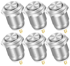 Momentary Push Button Switch 12v Waterproof Small Round Chrome Stainless Metal