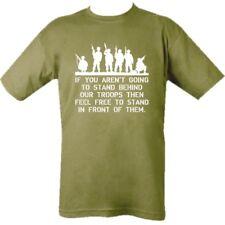 Hombres 100% Camiseta Algodón s-2xl elevado Behind Our TROPAS Británico US ARMY