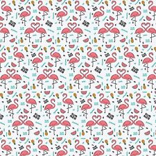 Printed Bow Fabric A4 Canvas Flamingos  Pineapples Watermelons PF3 Make bows