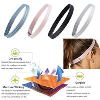 Headband Women Anti-slip Yoga Hair Band Elastic Silicone Sweatband Sports Soccer