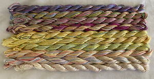 #7 Yellow/Pink Colors 10 Caron Waterlilies 12 Ply Silk Thread Without Tags