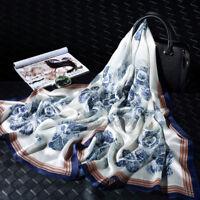 """71*26"""" 100% Pure Silk Long Scarf Fashion Nature Silk Shawl Painting Pattern"""