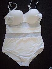 Eternatastic Women's Summer One-piece Monokini Swimsuit in White Size XL/12