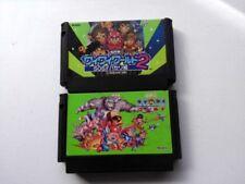 KONAMI WAI WAI WORLD 1 & 2 set for Nintendo Famicom FC (NES) 2 cartridge set-D-