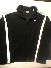 Nike Jacket/Womens Sz.4-6P-Black/White Swoosh-Polyester-Lt. Weight-LSleeve