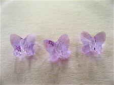 8 Violet Swarovski Butterfly Beads 5754 6mm