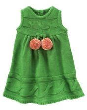 NWT 18-24 Months Gymboree CHEERY ALL THE WAY Green Sweater Pom Pom Jumper DRESS
