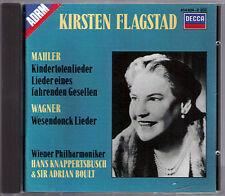Kirsten FLAGSTAD: WAGNER Wesendonk MAHLER Kindertotenlieder BOULT KNAPPERTSBUSCH