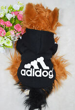 New Pet Clothes Lovely Dog Puppy Warm Sweater Hoodie Coat Jacket Costume Black